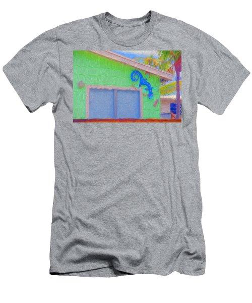 Conch Key Lizard Wall Art Men's T-Shirt (Athletic Fit)