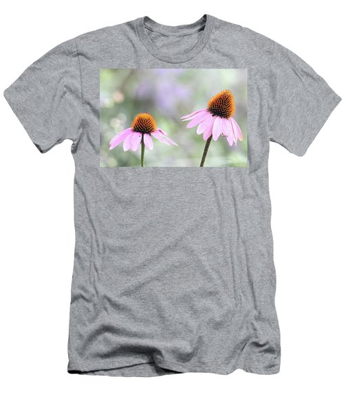 Men's T-Shirt (Athletic Fit) featuring the photograph Coneflowers On A Summer Day by Trina Ansel