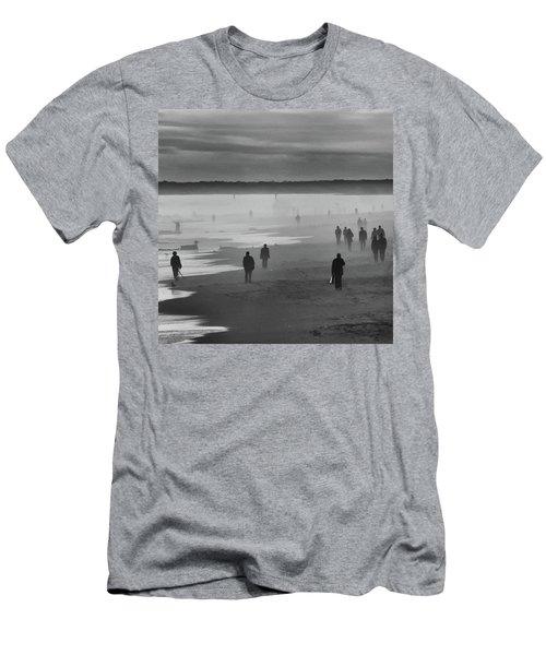 Men's T-Shirt (Athletic Fit) featuring the photograph Coney Island Walkers by Eric Lake