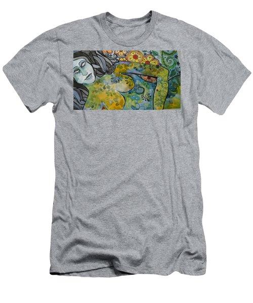 Conflict Men's T-Shirt (Slim Fit) by Claudia Cole Meek