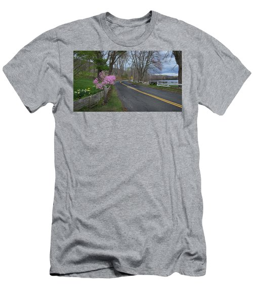 Men's T-Shirt (Slim Fit) featuring the photograph Connecticut Country Road by Bill Wakeley