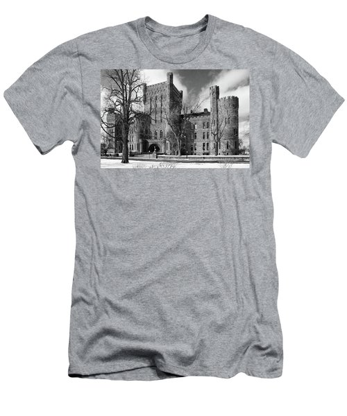 Men's T-Shirt (Slim Fit) featuring the photograph Connecticut Street Armory 3997b by Guy Whiteley