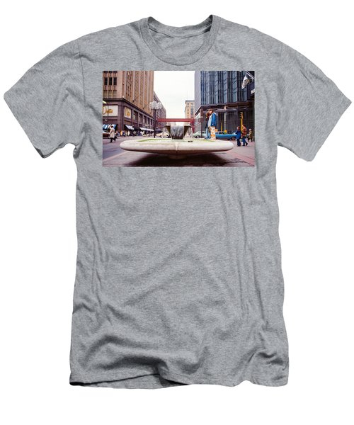 Contemplating The Fountain At 8th And Nicollet. Men's T-Shirt (Athletic Fit)