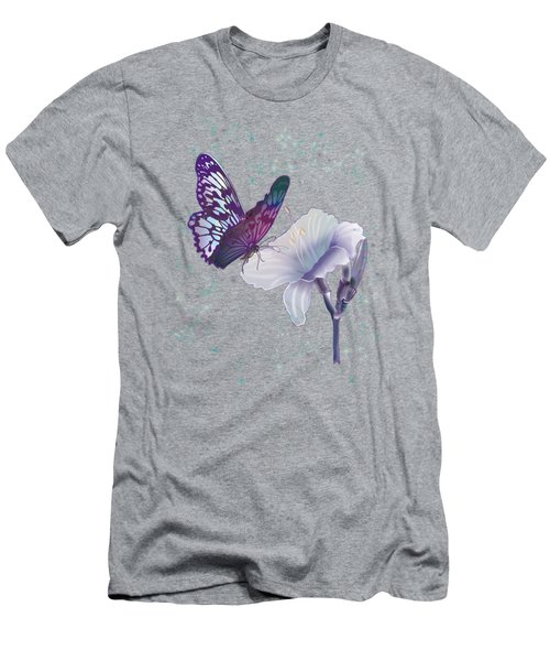 Contemporary Painting Of A Dancing Butterfly  Men's T-Shirt (Slim Fit) by Regina Femrite