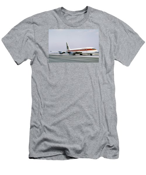 Continental Airlines 720-024b N17207 Los Angeles July 22 1972 Men's T-Shirt (Slim Fit) by Brian Lockett