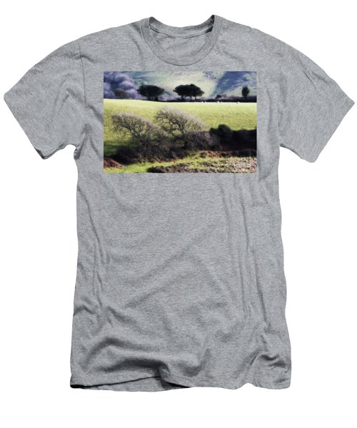 Contrast Of Trees Men's T-Shirt (Slim Fit) by Gary Bridger