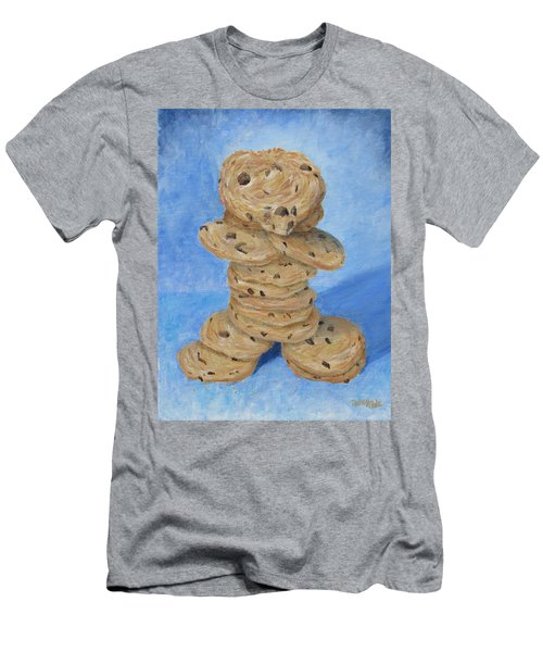 Men's T-Shirt (Athletic Fit) featuring the painting Cookie Monster by Nancy Nale