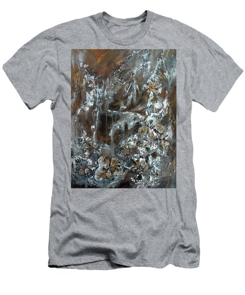Men's T-Shirt (Slim Fit) featuring the painting Copper And Mica by Joanne Smoley