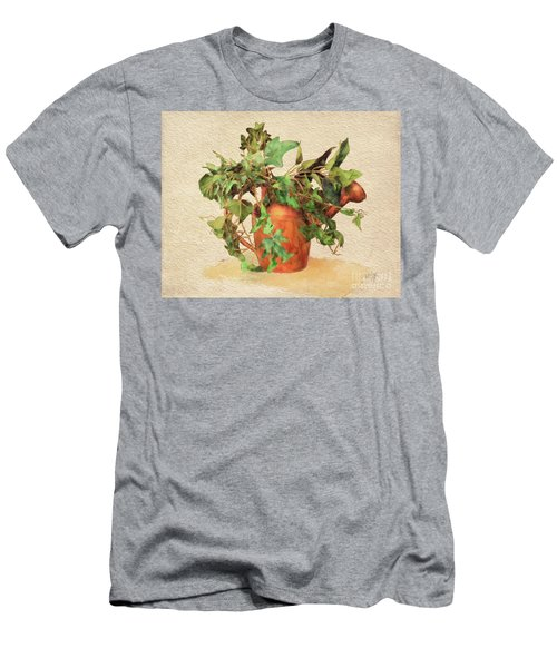 Men's T-Shirt (Athletic Fit) featuring the digital art Copper Watering Can by Lois Bryan