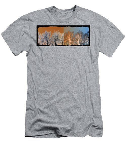 Men's T-Shirt (Slim Fit) featuring the digital art Coppertone Fusion by Will Borden