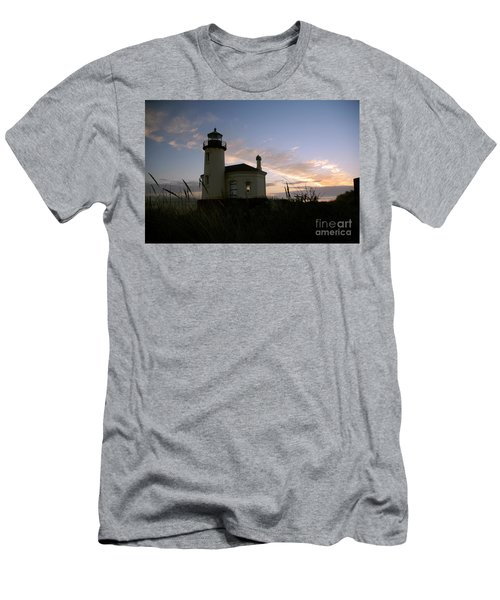 Coquille River Lighthouse At Sunset Men's T-Shirt (Athletic Fit)