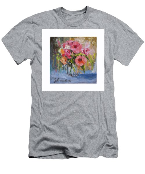 Coral Bouquet Men's T-Shirt (Slim Fit) by Jennifer Beaudet