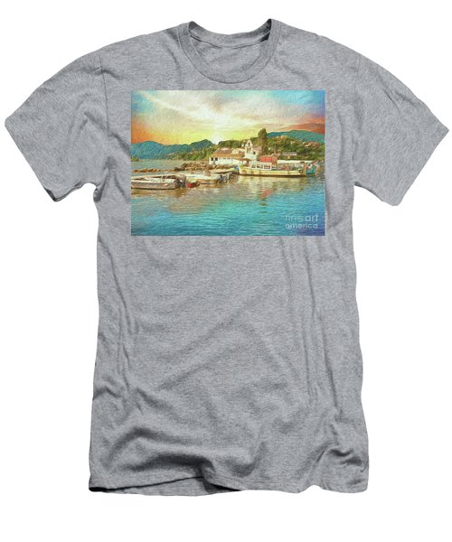 Corfu 30 My Passion Paintography Men's T-Shirt (Athletic Fit)