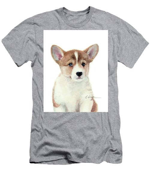 Corgi Pup Men's T-Shirt (Athletic Fit)