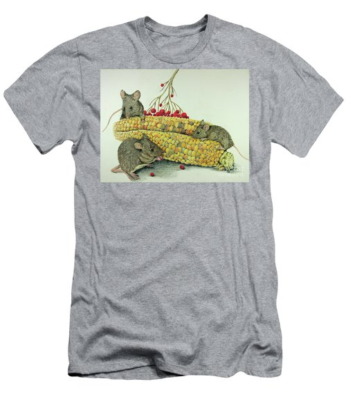 Men's T-Shirt (Slim Fit) featuring the drawing Corn Meal by Terri Mills