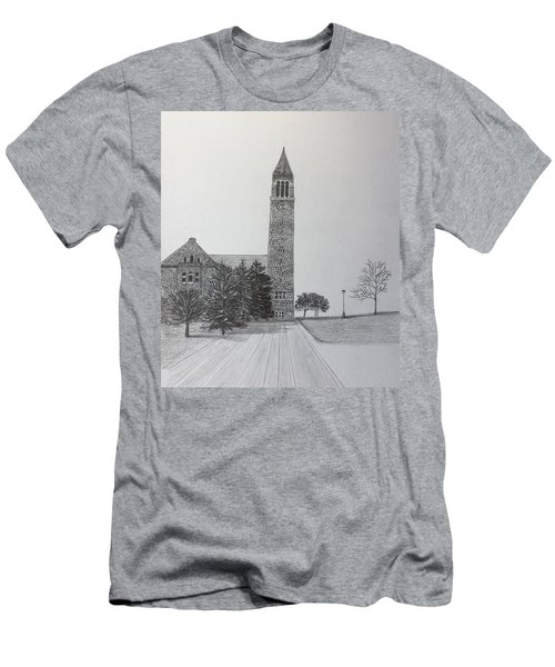 Cornell Clock Tower  Men's T-Shirt (Athletic Fit)