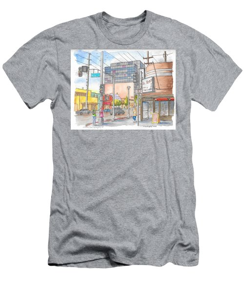 Corner 3rd St. And Orlando, Los Angeles, Ca Men's T-Shirt (Athletic Fit)