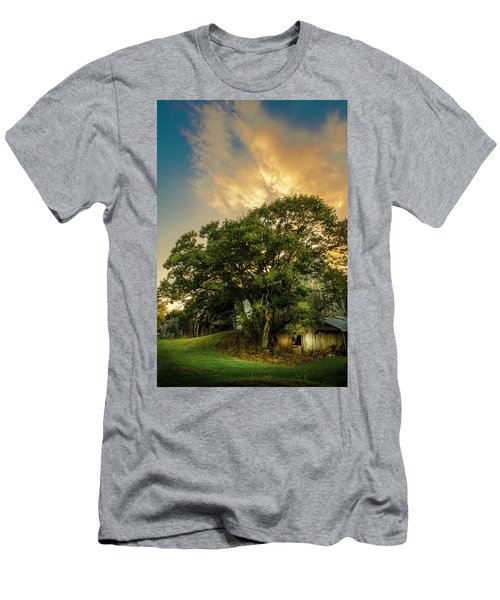 Men's T-Shirt (Slim Fit) featuring the photograph Corner Oak by Marvin Spates