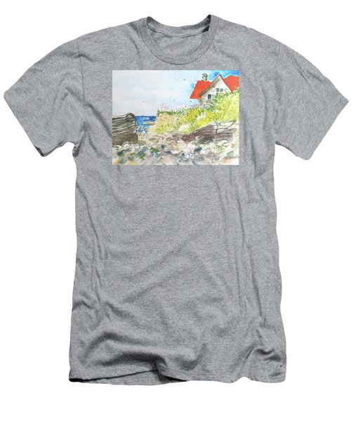 Cornfield Point Old Saybrook Men's T-Shirt (Slim Fit) by Gertrude Palmer