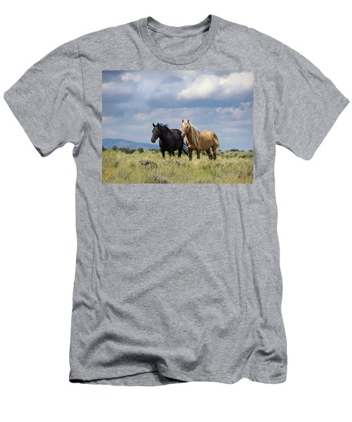 Men's T-Shirt (Athletic Fit) featuring the photograph Corona And Em Of Sand Wash Basin by Nadja Rider