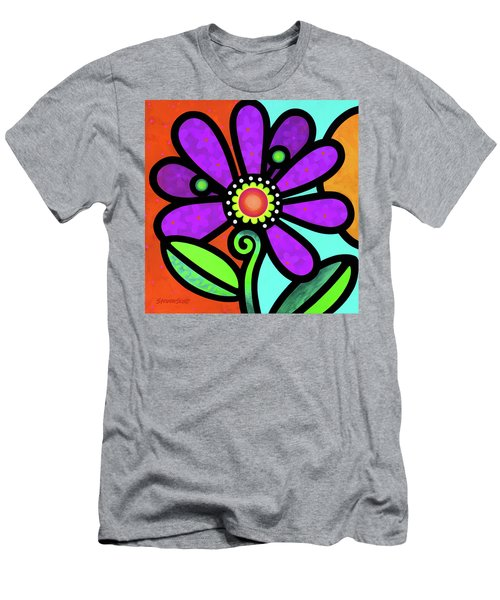 Cosmic Daisy In Purple Men's T-Shirt (Athletic Fit)