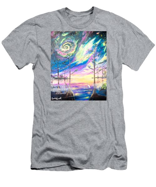 Men's T-Shirt (Slim Fit) featuring the painting Cosmic Florida by Dawn Harrell