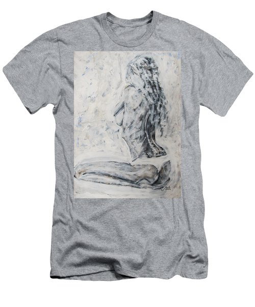 Men's T-Shirt (Athletic Fit) featuring the painting Cosmic Love by Jarko Aka Lui Grande