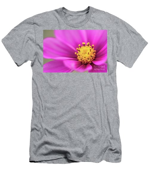 Men's T-Shirt (Slim Fit) featuring the photograph Cosmos Pink Sensation by Sharon Mau