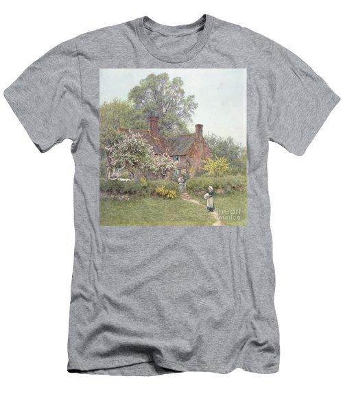 Cottage At Chiddingfold Men's T-Shirt (Athletic Fit)