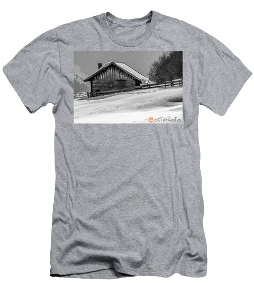 Cottage In Winter Men's T-Shirt (Athletic Fit)