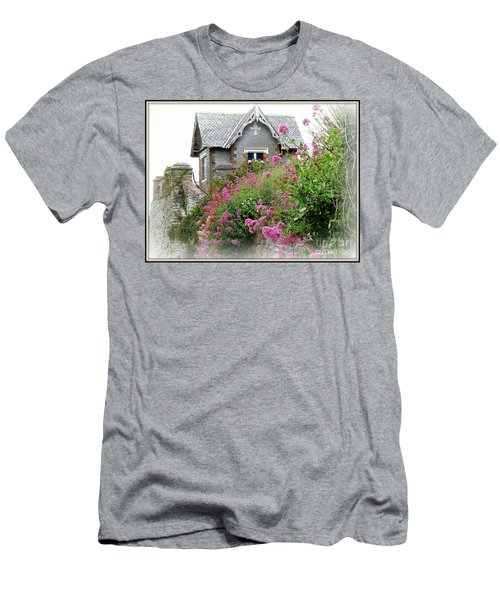 Cottage On The Hill Men's T-Shirt (Slim Fit) by Anne Gordon