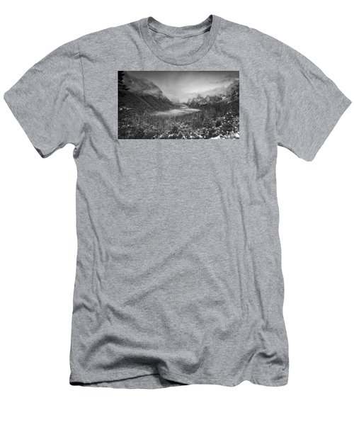 Cotton Candy Blankets Yosemite Men's T-Shirt (Slim Fit) by Lora Lee Chapman