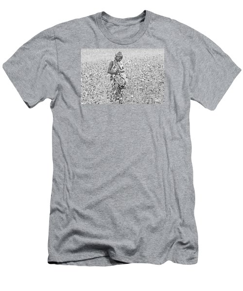 Men's T-Shirt (Slim Fit) featuring the photograph Cotton Picker by Pravine Chester