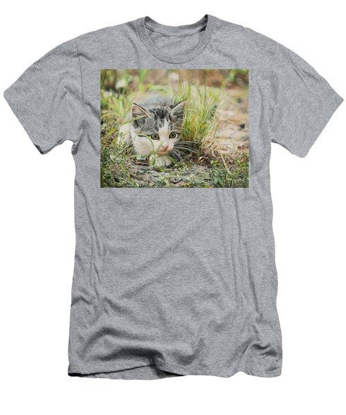 Cotton The Kitten Men's T-Shirt (Athletic Fit)