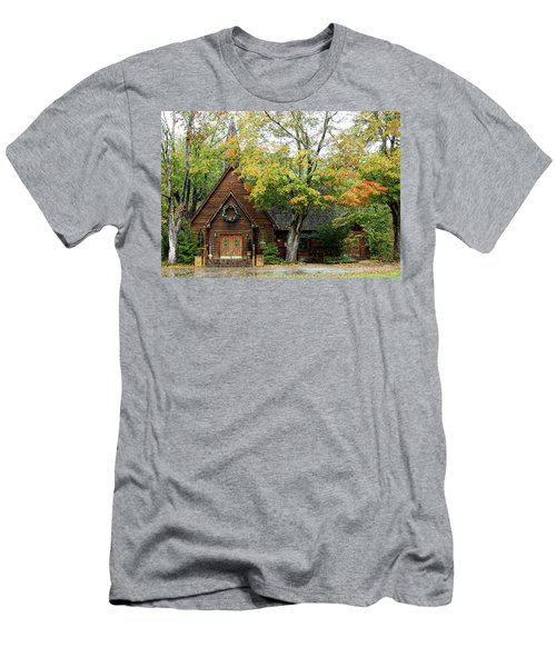 Men's T-Shirt (Slim Fit) featuring the photograph Country Chapel by Jerry Battle