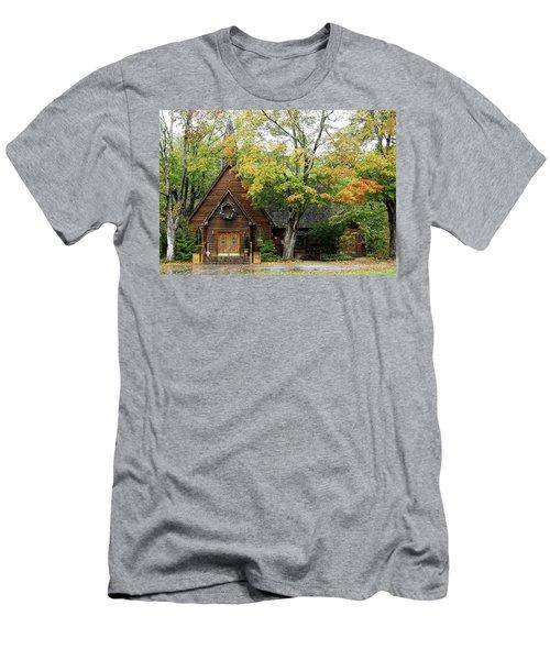 Country Chapel Men's T-Shirt (Slim Fit) by Jerry Battle
