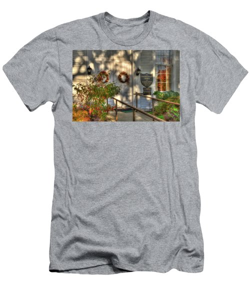 Men's T-Shirt (Athletic Fit) featuring the photograph Country Church In Autumn - Vermont Fall by Joann Vitali