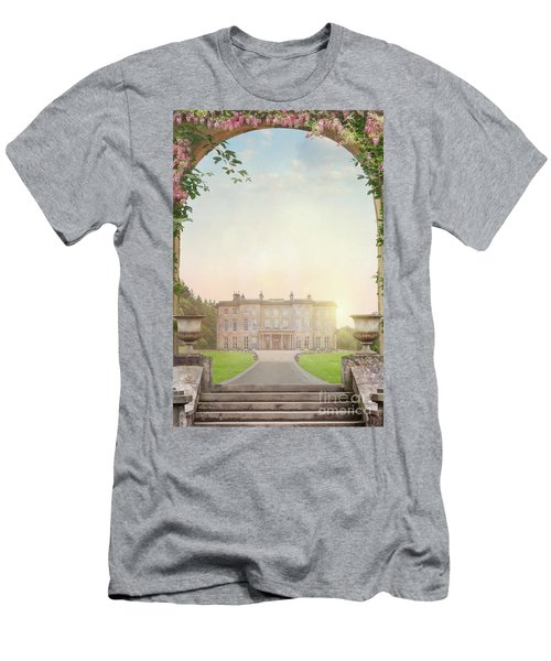 Country Mansion At Sunset Men's T-Shirt (Slim Fit) by Lee Avison