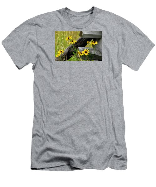 Country Roads Men's T-Shirt (Slim Fit) by Angela Davies