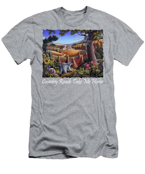 Country Roads Take Me Home T Shirt - Coon Gap Holler - Appalachian Country Landscape 2 Men's T-Shirt (Athletic Fit)