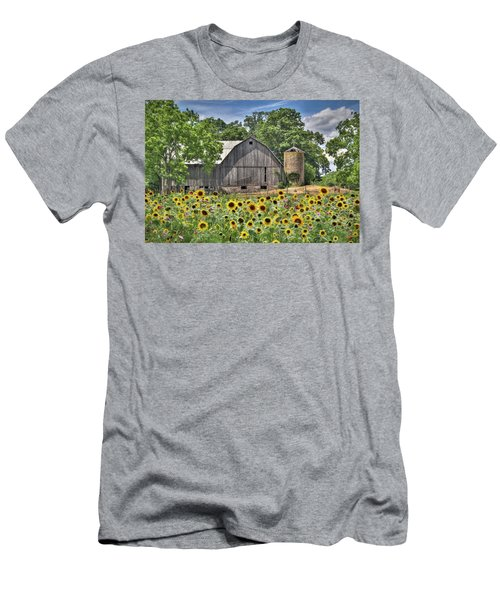 Country Sunflowers Men's T-Shirt (Slim Fit) by Lori Deiter