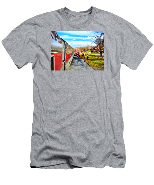 Country Train Depot Men's T-Shirt (Athletic Fit)