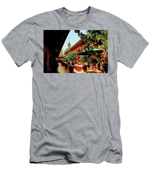 Courtyard At The Inn Men's T-Shirt (Athletic Fit)