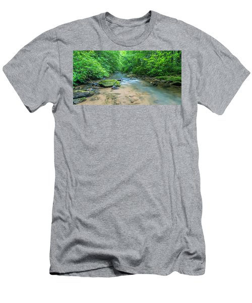 Men's T-Shirt (Athletic Fit) featuring the photograph Cove Creek Panorama by Ranjay Mitra