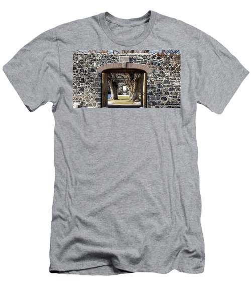 Men's T-Shirt (Slim Fit) featuring the photograph Cove Fort, Utah by Cynthia Powell
