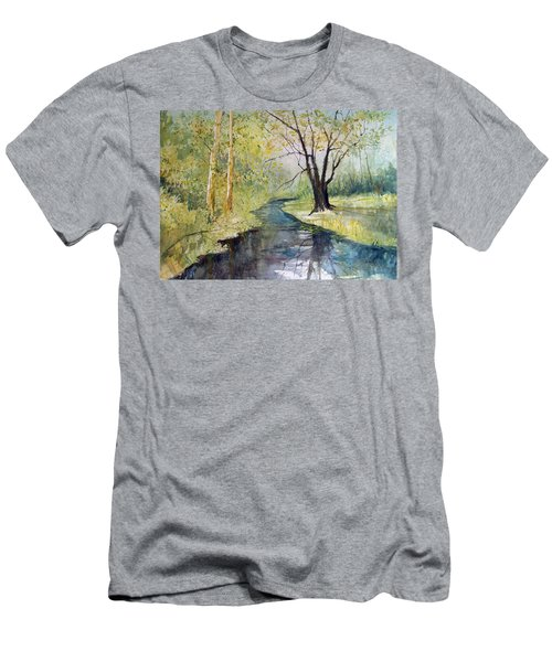Covered Bridge Park Men's T-Shirt (Athletic Fit)