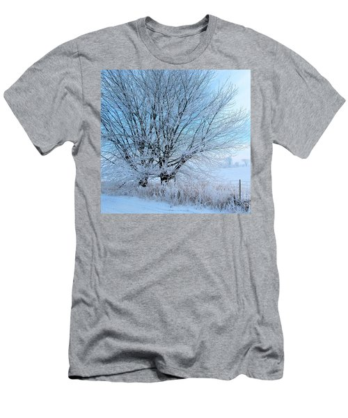 Men's T-Shirt (Slim Fit) featuring the photograph Covered In Ice by Heather King