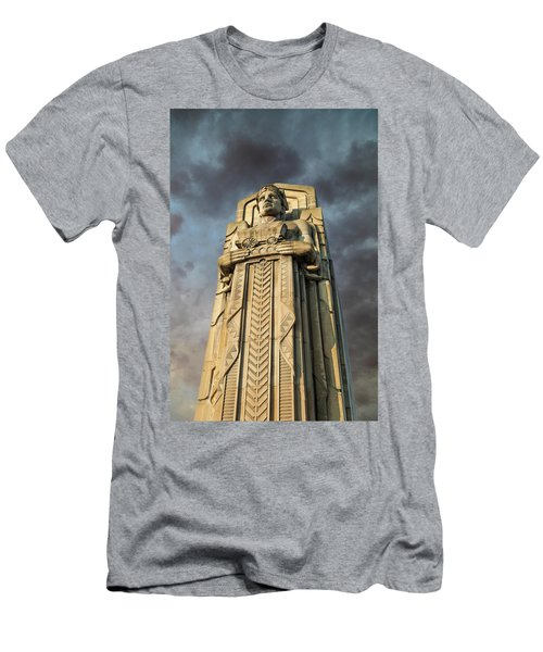 Covered Wagon Guardian On Hope Memorial Bridge Men's T-Shirt (Athletic Fit)