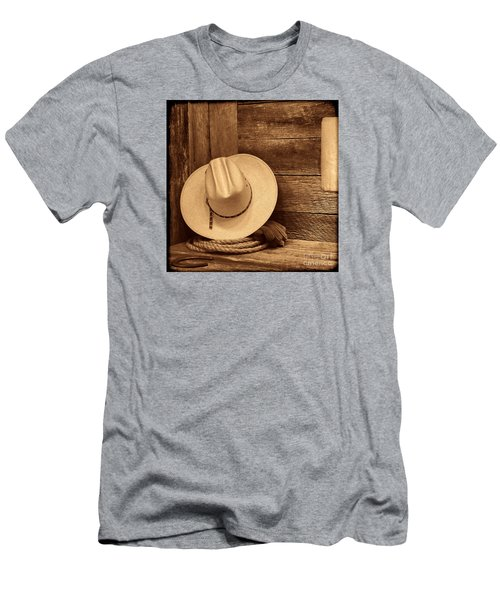 Cowboy Hat In Town Men's T-Shirt (Slim Fit) by American West Legend By Olivier Le Queinec