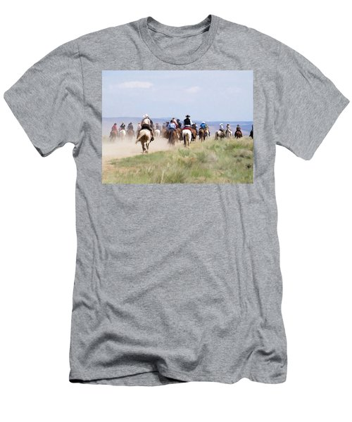 Cowboys And Cowgirls Riding Horses At The Sombrero Horse Drive Men's T-Shirt (Athletic Fit)